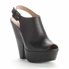 Candie's Slingback Peep-Toe Platform High Heels - Women
