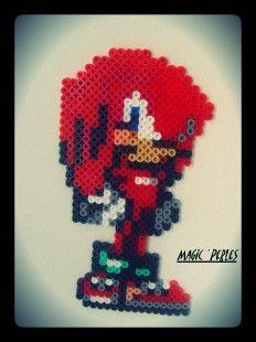 Knuckles Sonic hama perler by Alice Tobbi