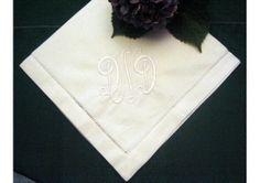 Personalized Napkins -Hemstitched Linen Dinner Napkin Set of 12 - TheWeddingMile.com Monogrammed Napkins, Personalized Napkins, Linen Napkins, Napkins Set, Wedding Handkerchief, Wedding Napkins, Wedding Keepsakes, Wedding Gifts, Monogram Wedding