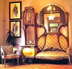 Love the combo sofa/display shelves & side table   Meubels
