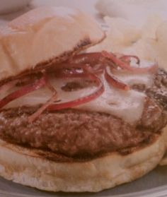 French Onion Burger  http://www.stockpilingmoms.com/2011/03/french-onion-burger/