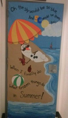 My classroom door right now. I can't wait for winter to be over!! I <3 Olaf!