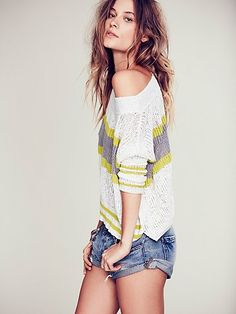 Free People Boxy Stripe Pullover