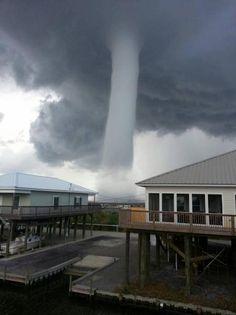 Waterspout near Grand Isle, La. Wednesday, June 19, 2013