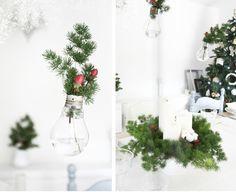 Natale al verde: lampadine fluttuanti