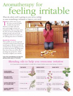 Aromatherapy for feeling irritable