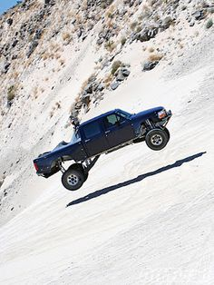 Air time in an off-road Ford Truck