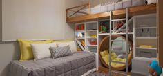 Łóżko dziecięce, pokój dziecięcy, piętrowe łóżko, nowoczesne łóżko. Zobacz więcej na: https://www.homify.pl/katalogi-inspiracji/37252/lozka-dla-dzieci-12-fantastycznych-pomyslow