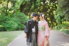 Kimono PreWedding Engagement Photo Session in Japan