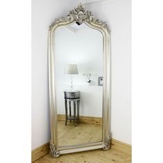 Cristina - Silver Arched Ornate Full Length Mirror x x Ornate Mirror, Wood Mirror, Extra Large Mirrors, Nursery Room, Wall Mount, Lounge, Flooring, High Ceilings, Furniture