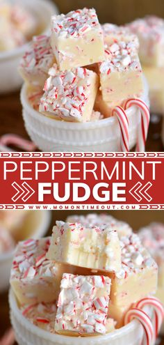 Make your holidays bright with this easy fudge recipe! Bursting with the perfect peppermint flavor, this festive dessert will get you in the Christmas spirit. Share a batch of this candy with family and friends! A handful of ingredients and 5 minutes are all you need!