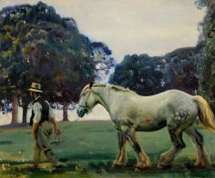 Sir Alfred Munnings -The Grey Mare