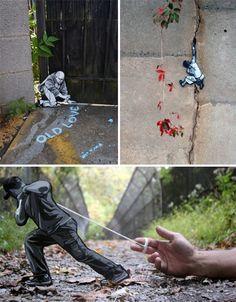 Small World: Mini Wooden Cutouts Take Over the Streets