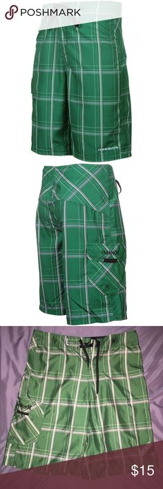 Men's Hurley Boardshorts Oregon UO Ducks Fan Gear Great condition. Hurley brand Board Shorts in men's waist size 30. Green plaid with pocket and 'Oregon Ducks' on the leg. Lightly worn Hurley Swim Board Shorts