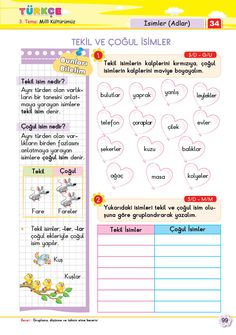 2. Sınıf Soru Bankası Türkçe Süper Kitap Turkish Language, Arabic Language, Learning Arabic, Kindergarten Worksheets, Grade 1, Special Education, Sunday School, Kids And Parenting, Homework