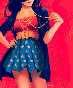 Modern Day Wonder Woman  www.junkfoodclothing.com