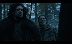 Jon Snow and Mance Rayder, together again for the first time (on the Game of Thrones Season 4 Finale)