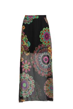 For the hippies; flower printed long skirt from #Desigual #DesignerOutletParndorf