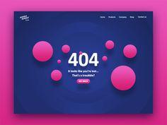 Dubble Bubble 404 Page. by Riccardo Cavallo - Dribbble Wave Design, Ux Design, Layout Design, Graphic Design, Web Design Websites, 404 Pages, Mobile Web Design, Website Design Inspiration, Daily Inspiration