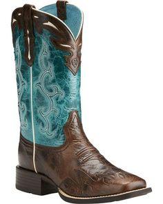 5fd29dab96e Ariat Women s Chocolate Sidekick Western Boots - Square Toe