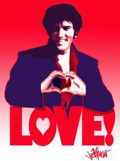 Joe Petruccio artwork of Elvis
