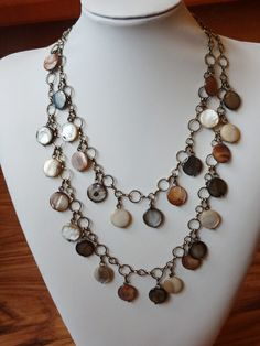 Shell bead necklace