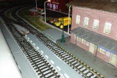 Model railway station building