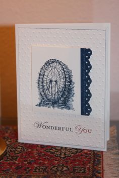 Wonderful You--Stamps: Feeling Sentimental, Loving Thoughts   Paper: White, Midnight Muse   Ink: Midnight Muse, Rasberry Ripple
