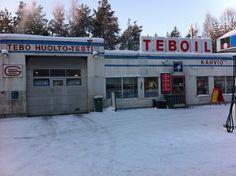 Prettiest petrol station ever. Ruukki, Finland