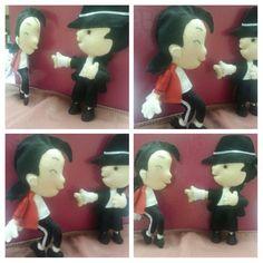 Amo fazer miniaturas! Michael Jackson em feltro