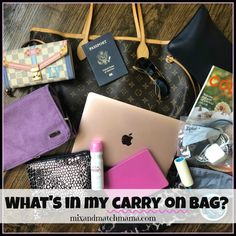 What's in my carry on bag? (Mix and Match Mama)