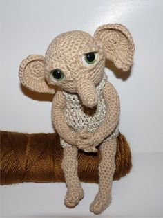Hobby the House Elf (Pattern Only), Plush inspired by Dobby from Harry Potter. $6.50, via Etsy.