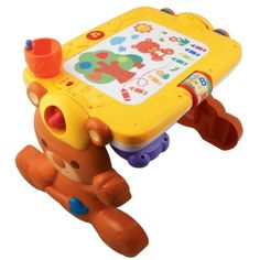 The Discovery Table from VTech is an innovative electronic learning toy that easily adapts to your child's various activities. When your baby is feeling artistic they can sit at the drawing de. Interactive Learning, Learning Toys, Early Learning, Toddler Boy Toys, Baby Toys, Kids Toys, Games For Kids, Activities For Kids, Science Activities