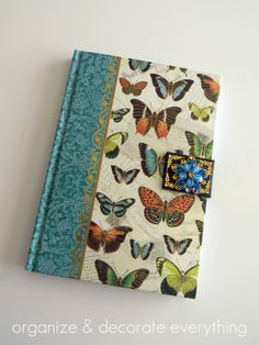 Make kindle cover out of journal -- cute!