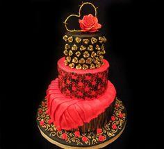 Argentine Tango Cake - by MartaBarata @ CakesDecor.com - cake decorating website