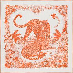Carré 90 x 90 cm Hermès | Tatouage Jungle Love