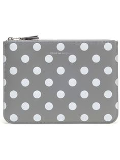 polka dot leather clutch / comme des garcons