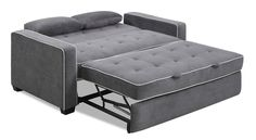 Augustine Convertible Sofa Moon Grey Queen by Serta / Lifestyle