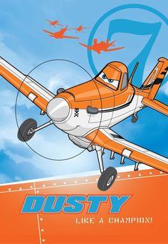 Niebieski ręcznik dziecięcy z pomarańczowym samolotem