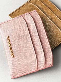 London leather glitter card cases in a selection of shimmering colours.