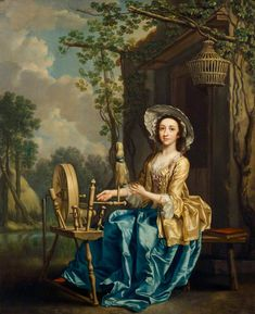 Girl at a Spinning Wheel  Francis Hayman (1708–1776)  English Heritage, Marble Hill House