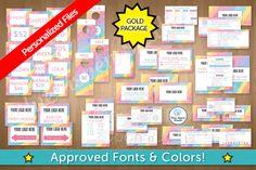 LuLaRoe Gold Package Marketing Kit, Rainbow 109 by Blue Aspen Studio