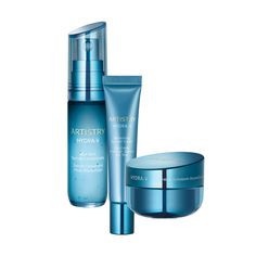 Bestellnummer: 119687. ARTISTRY HYDRA-V™ Power System für trockene Haut. Das ARTISTRY HYDRA-V Power System für trockene Haut enthält das Revitalisierende Serumkonzentrat, die Revitalisierende Feuchtigkeitscreme und die Erfrischende Gel-Augencreme, um die Haut zu erfrischen und sie mit Feuchtigkeit zu versorgen.