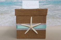 Starfish Beach Card Box  Wedding Shower Birthday by ParadiseBridal