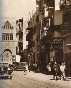 Souk El Franj 1935 - Lebanon in a Picture Old Pictures, Old Photos, Vintage Pictures, Naher Osten, Baalbek, Beirut Lebanon, Interesting Buildings, Historical Pictures, Old City
