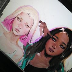 "6,661 Likes, 26 Comments - dina  (@eafrns) on Instagram: ""Humanized Pearl and Marina from #splatoon2 #deletelater"""