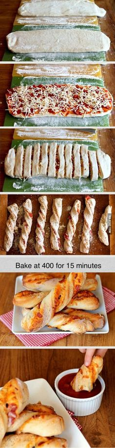 Funny pictures about Dippable Pizza Sticks. Oh, and cool pics about Dippable Pizza Sticks. Also, Dippable Pizza Sticks photos. Pizza Sticks, Snack Recipes, Cooking Recipes, Pizza Recipes, Recipes Dinner, Easy Recipes, Dip Recipes, Bread Recipes, Snacks Für Party