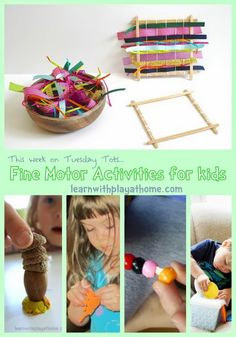 Learn with Play at home: Fine Motor Activities for Kids