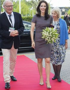 Crown Princess Mary of Denmark attended the 14th World Congress of the European Association for Palliative Care on May 8, 2015 at Bella Center in Copenhagen, Denmark. (The European Association for Palliative Care (EAPC) was established on 12 December 1988. The aim of the EAPC is to promote palliative care in Europe and to act as a focus for all of those who work, or have an interest, in the field of palliative care at the scientific, clinical and social levels)