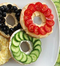 Gold medal veggie bagels